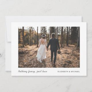 Minimal Elopement Now Party Later  Photo Wedding