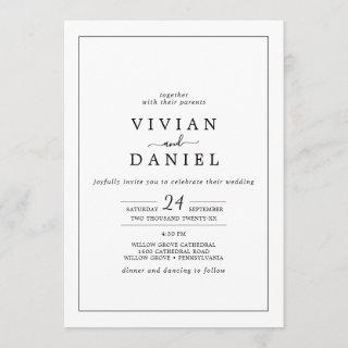 Minimalist All In One Wedding Invitation