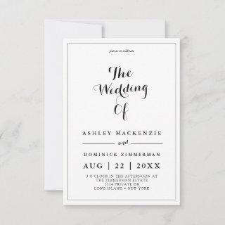 Minimalist Black Calligraphy All In One Wedding In