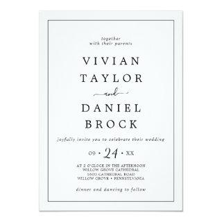 Minimalist Bold Names Wedding Invitations