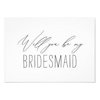 Minimalist Bridesmaid Wedding Proposal Card
