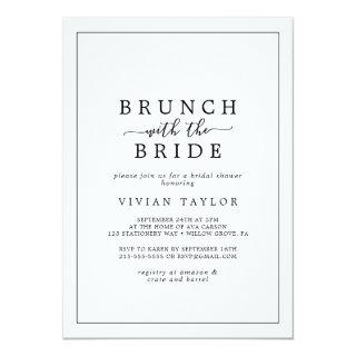 Minimalist Brunch with the Bride Bridal Shower Invitations