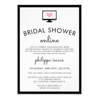 Minimalist Chic Virtual Bridal Shower Invitation