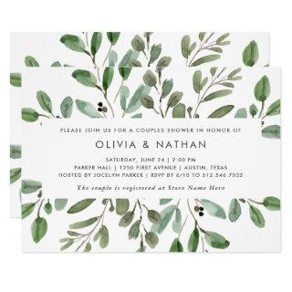 Minimalist Foliage | Couples Shower Invitations