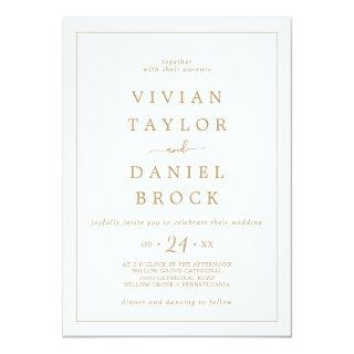 Minimalist Gold Bold Names Wedding Invitations