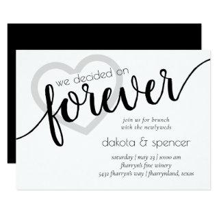 Minimalist Heart Forever | Brunch with Newlyweds Invitation