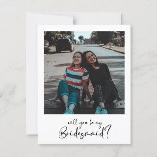 Minimalist modern Will you be my bridesmaid photo