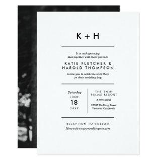 Minimalist Photo Wedding Invitations