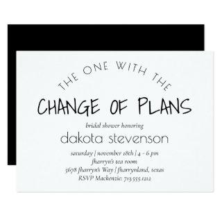 Minimalist Script | One With the Change of Plans Invitations