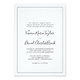 Minimalist Traditional Wedding Invitation