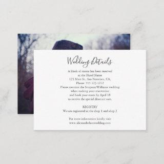 Minimalist Wedding Details with Photo Enclosure Card
