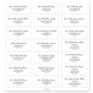 Minimalist Wedding Guest Address Labels
