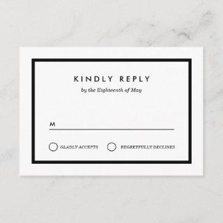 Minimalist Wedding RSVP