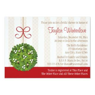 Mistletoe Kissing Ball Bridal Shower Invitation