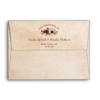 Mistletoe Manor Chic Winter Watercolor Wedding Envelope