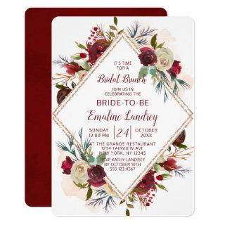 Mistletoe Manor Diamond Bridal Brunch Shower Invitation
