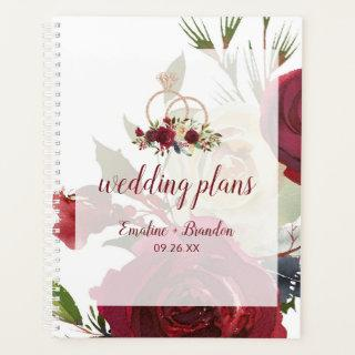 Mistletoe Manor Watercolor Winter Wedding Plans Planner