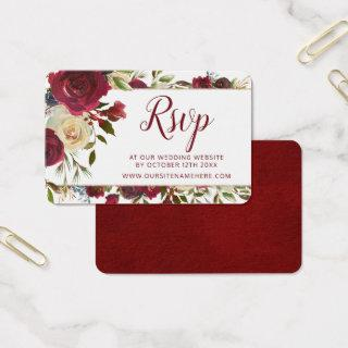 Mistletoe Manor Wedding Website RSVP Insert Cards