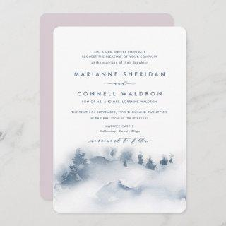 Misty Mountains I Formal Wedding Invitations