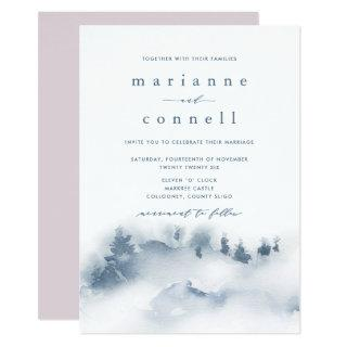 Misty Mountains III Informal Wedding Invitations