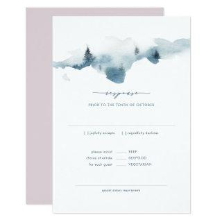 Misty Mountains Wedding RSVP+MEAL Response Invitations