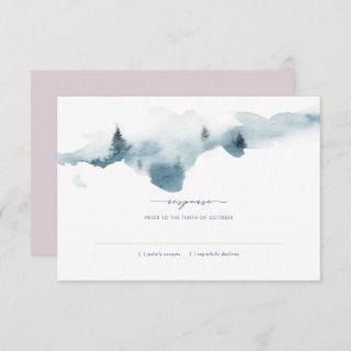 Misty Mountains Wedding RSVP Response Invitations