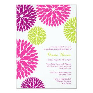 MOD BLOOMS - Wedding, Birthday or Any Occasion Invitation