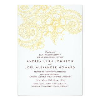 Mod Mehandi Wedding Invitations