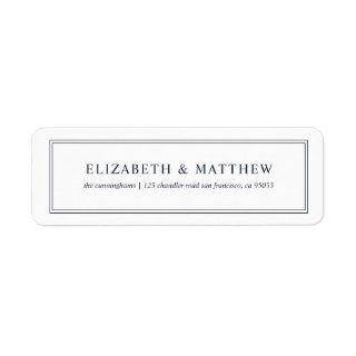 Modern and Simple Return Address Label