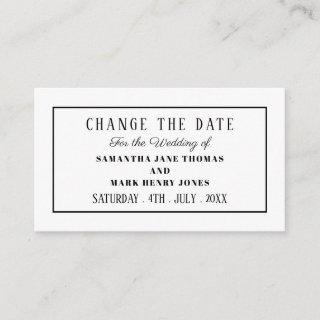 Modern and Sleek, Any Color, Change the Date Enclosure Card