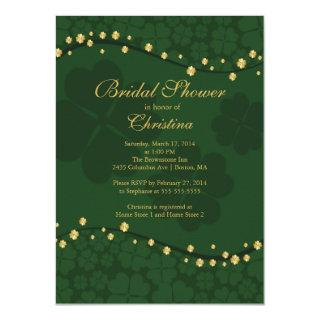 Modern Beautiful Irish Shamrock Bridal Shower Invitation