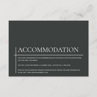 MODERN BOLD BLACK WHITE TYPOGRAPHY ACCOMMODATION ENCLOSURE CARD