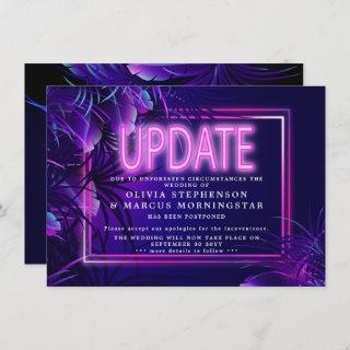 Modern Bold Glow in the Dark Wedding UPDATE Invitations
