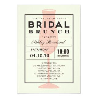 Modern Bridal Brunch Invitations
