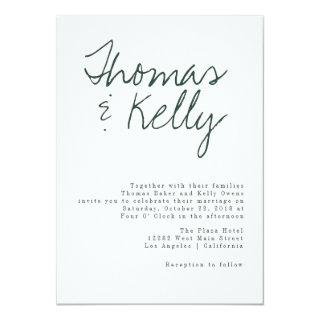Modern Calligraphy Wedding Suite Invitation