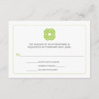 Modern Celtic Inspired Wedding Reply RSVP Card