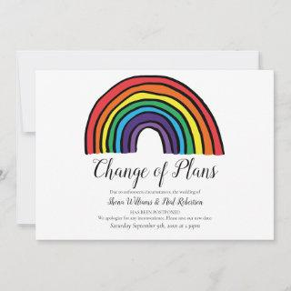 Modern Change the Date Postponed Event Rainbow Save The Date