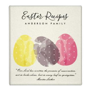 MODERN COLORFUL WATERCOLOR EASTER EGG RECIPES GIFT BINDER
