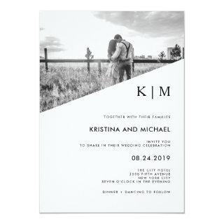 Modern Diagonal | Photo Wedding Invitations