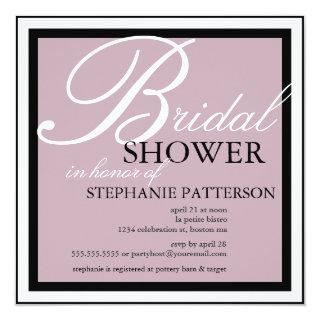 Modern & Elegant Bridal Shower in Lilac Invitation