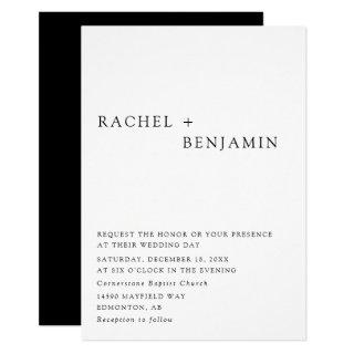 Modern Elegant Timeless Minimalist Classic Formal Invitations