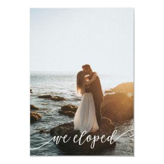 Modern Elopement Reception Wedding Invitation