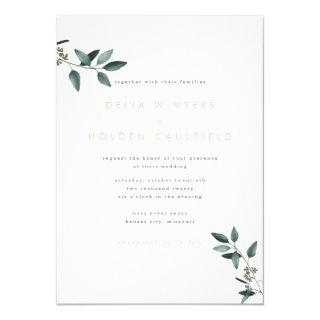 Modern Eucalyptus Greenery Wedding Invitations
