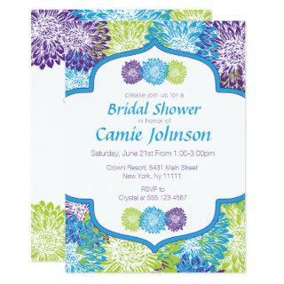Modern, Flowers Bridal Shower Invitations