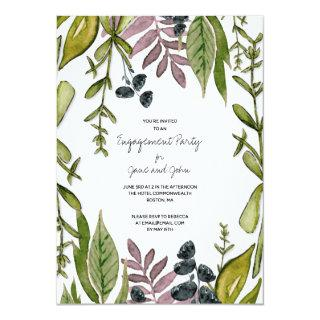 Modern Foliage Engagement Party Invitation