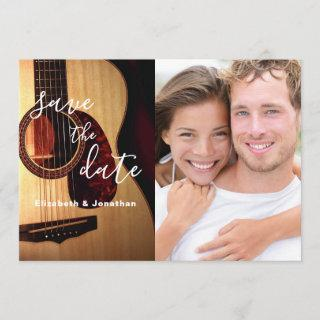Modern Guitar Musical Save The Date Photo