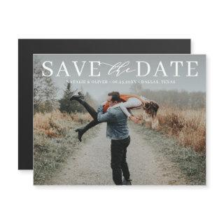 Modern Love Mix Typography Photo Save the Date II Magnetic
