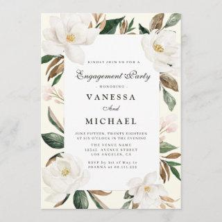 modern magnolia engagement party Invitations