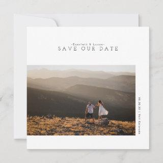 Modern Minimalist | Save Our Date Photo Card