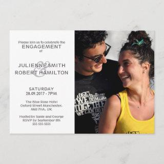 Modern Photo Engagement Wedding Shower Invitations
